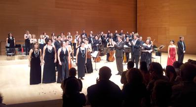 Salutació final dels intèrprets de 'Dido i Enees'