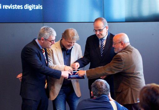El secretari de Comunicació, Josep Martí Blanch; el president de l'APPEC, Lluís Gendrau; el de l'ACPC, Carles Ayats, i el de l'ACPG, Alfons Udina, donaven així el tret de sortida a la plataforma