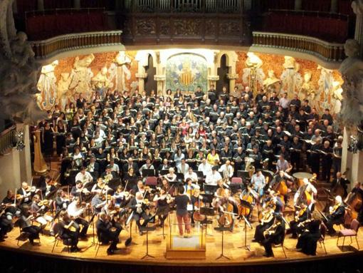 Un instant de l'assaig previ al concert. © Coral Mixta d'Igualada