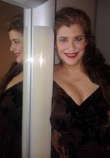 La cantant Ana Häsler caracteritzada com la valquíria Rossweisse en la producció de Robert Carsen al Liceu