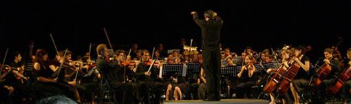 L'Orquestra de Joves Intèrprets dels Països Catalans durant una actuació