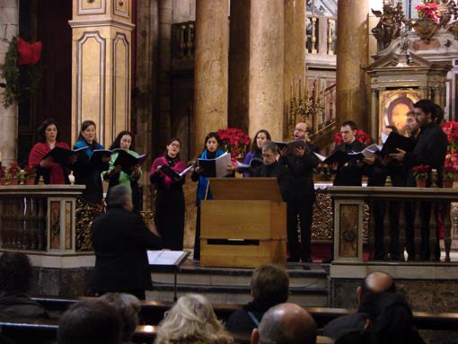 "Imatges d'aquest concert ""Florilegium Musicum Cataloniae"" del grup vocal Companyia Musical, dirigit per Josep Cabré"