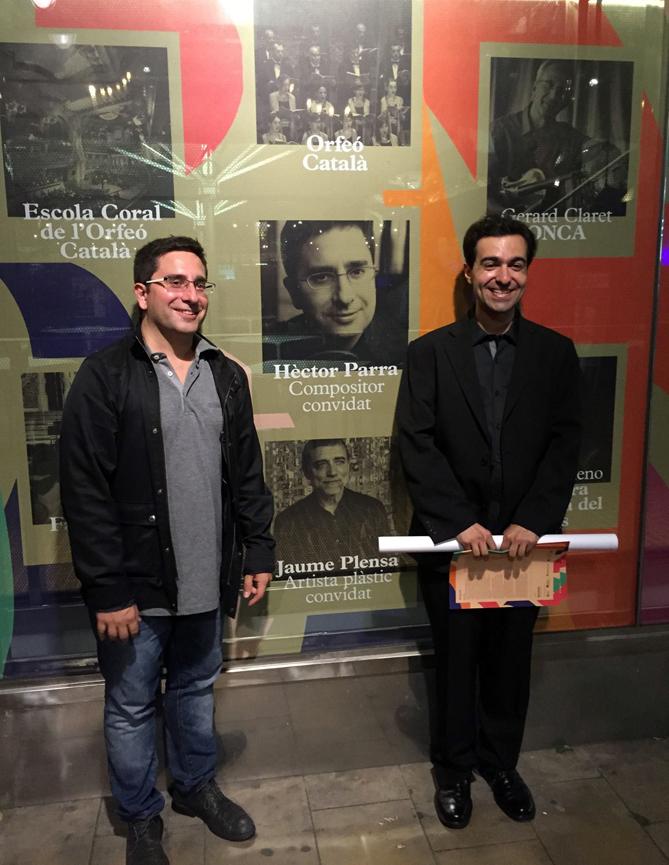 Hèctor Parra i José Menor el dia del concert