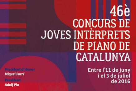 Convocat el 46è Concurs de Joves Intèrprets de Piano de Catalunya