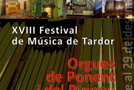 En marxa el Festival de Música de Tardor Orgues de Ponent i del Pirineu 2016