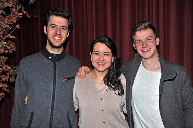D'esquerra a dreta: Carles Pachón (tercer premi oficial), Adriana González (segon premi oficial) i Petr Nekoranec (primer premi oficial). © Antoni Bofill