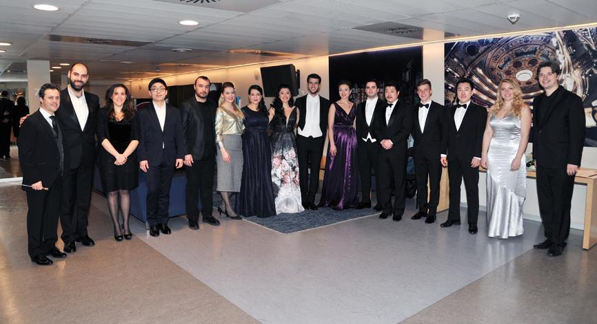 Imatge dels premiats en el 54è Concurs Internacional de Cant Tenor Viñas. © Antoni Bofill