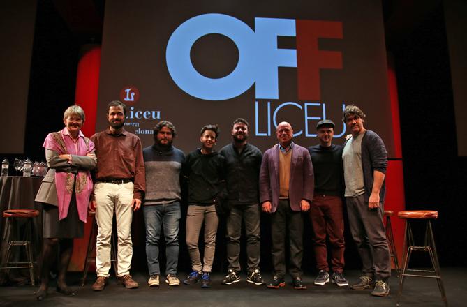 Aquesta foto i la següent, presentació en roda de premsa del nou cicle de música contemporània Off Liceu – Diàlegs Musicals