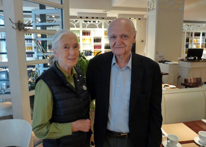 Jane Goodall i Jordi Cervelló