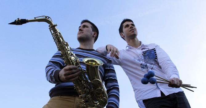 Javier Blasco (saxòfon) i Joan Salvador (percussió)