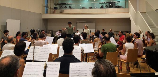 Imatge del Curs Internacional de Direcció d'Orquestra de l'any passat