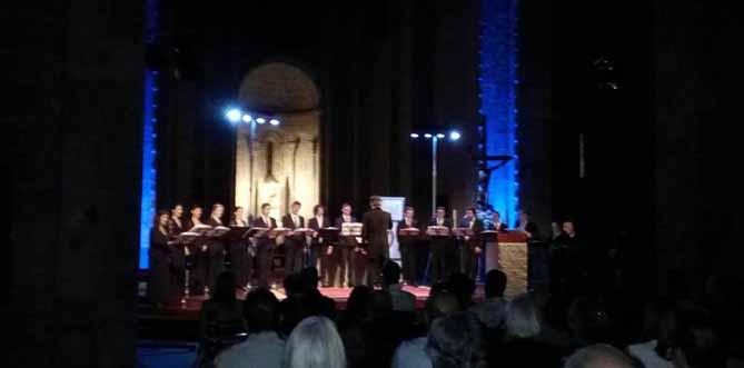 Concert del Choeur de Chambre de Namur a la Seu d'Urgell. © www.facebook.com/FestivalFemap