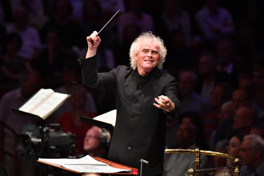 Simon Rattle dirigint la London Symphony Orchestra. Foto: BBC Chris Chistodoulou